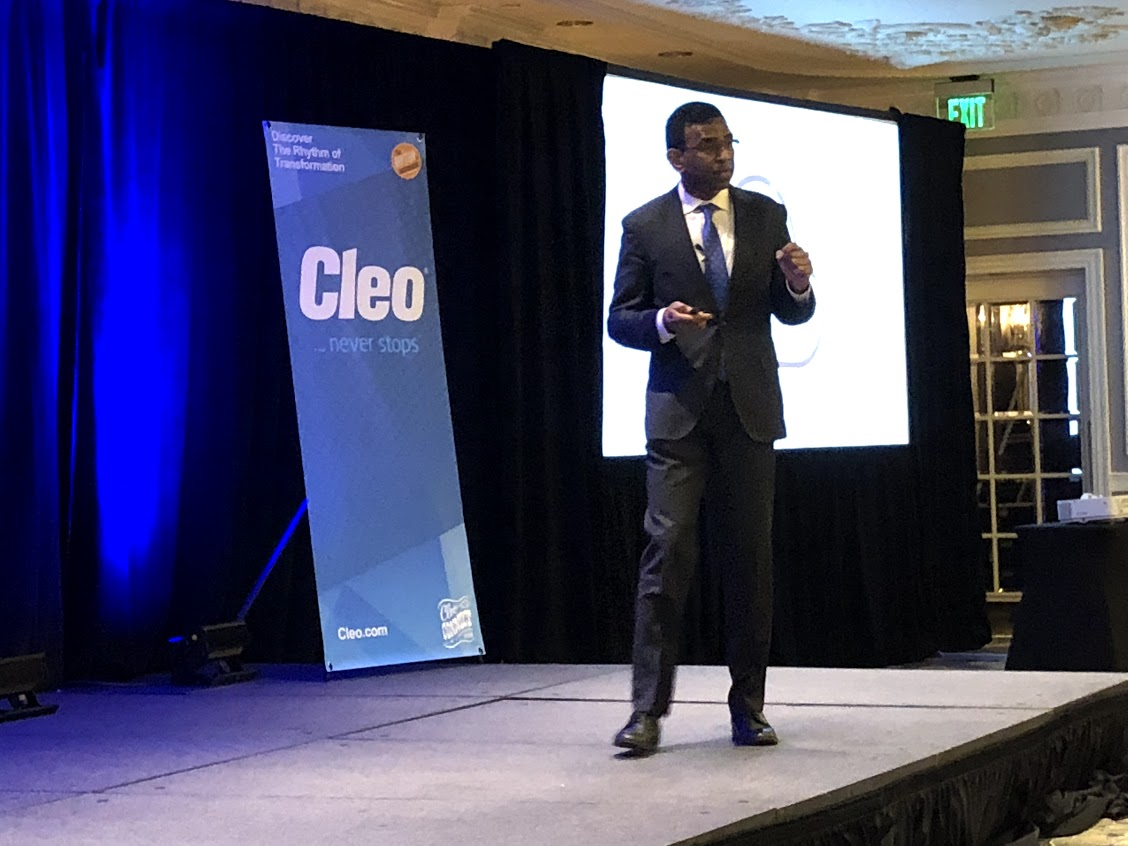 Cleo CEO keynote at Cleo Connect 2018 in Nashville
