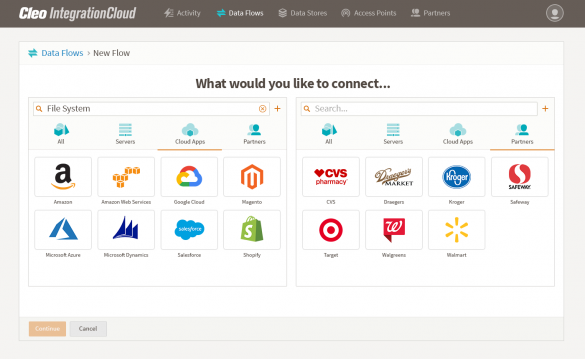 cleo-integration-cloud-platform-screenshot